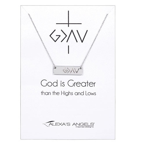 LCT-AA - God is Greater necklace