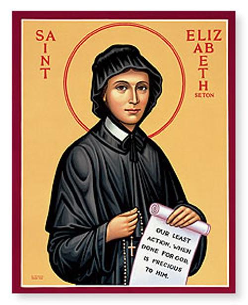 """Icon of Saint Elizabeth Ann Seton from Monastery Icons - 3""""W x 4""""H"""