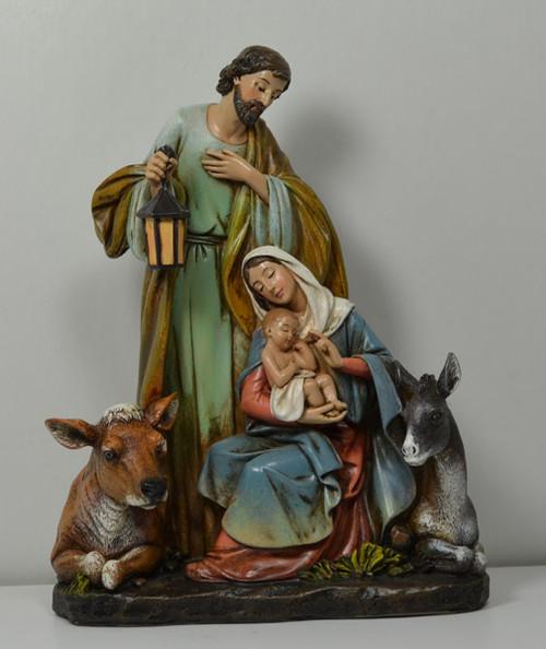 "Slim Line Holy Family by Joseph's Studio, 7.5""H"