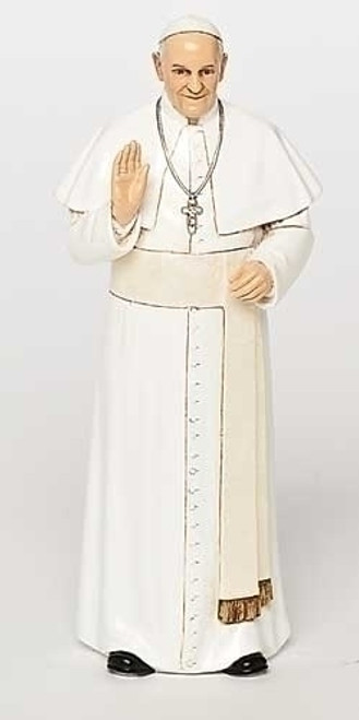 "Pope Francis, 6"" Figurine by Joseph's Studio and a Prayer Card"