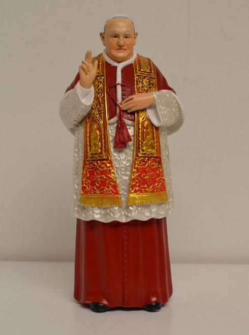 "Saint John XXIII, 6"" figurine by Joseph's Studio and Prayer Card"