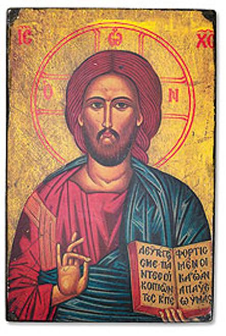 "Christ the Teacher Byzantium Classic Icon - 6.25""W X 9.5""H"