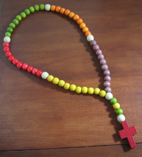Child's Wood Rosary - 20.5""