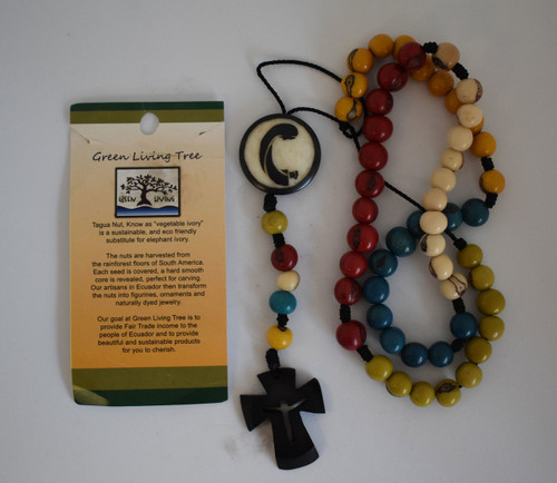 colored tagua nut