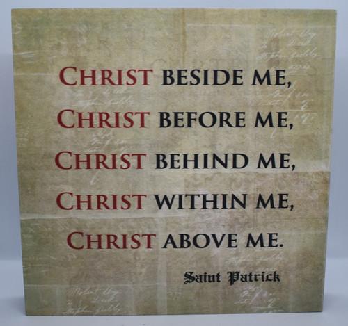 Christ Beside Me Plaque-front