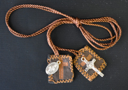 LCT- Brown scapular w/medals