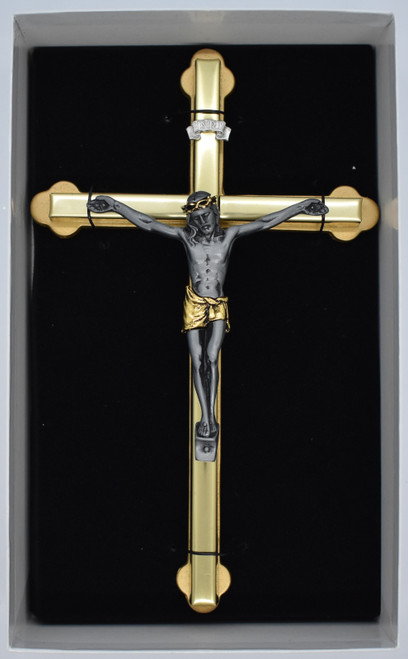 2 toned crucifix