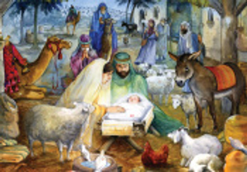 "Newborn Child Advent Calendar, 12"" x 8"""