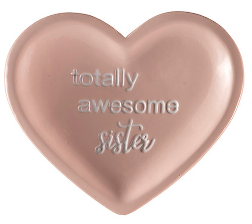 heart shaped trinket dish, awesome sister