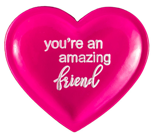 You're an amazing friend hot pink trinket dishes