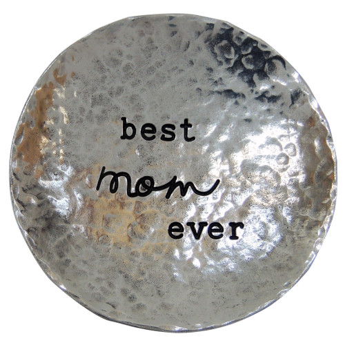 hammered trinket dish - best mom ever