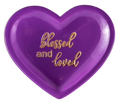 Lisa's Catholic Treasures, CA Gift,  heart shaped trinket dish - blessed and loved