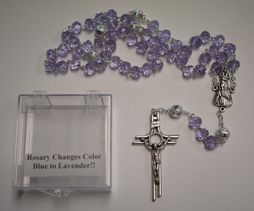 Lisa's Catholic Treasures, Contreras, Blue/Lavender rosary