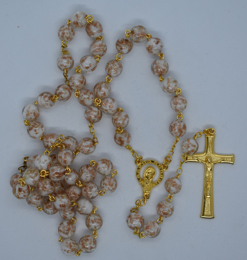 Lisa's Catholic Treasures, Contreras, white luminous rosary, lit