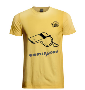 Chennai Super Kings Official Whistle Podu T-shirt