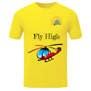 Chennai Super Kings Dhoni 7 Helicopter (Kids) T-shirt