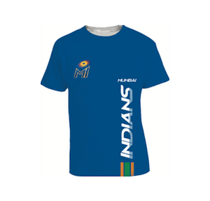 Mumbai Indians Outline Blue T-shirt-Thumbnail