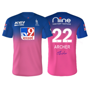 RAJASTHAN ROYALS (ARCHER) AUTOGRAPHED PLAYER JERSEY