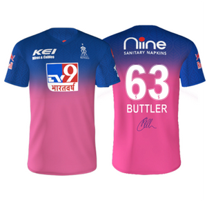 RAJASTHAN ROYALS (BUTTLER) AUTOGRAPHED PLAYER JERSEY