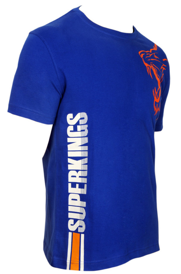Chennai Super Kings Dhoni Blue Outline T-shirt - Right Side View