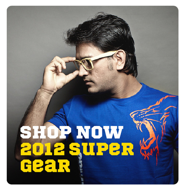 Chennai Super Kings Dhoni Blue Outline T-shirt