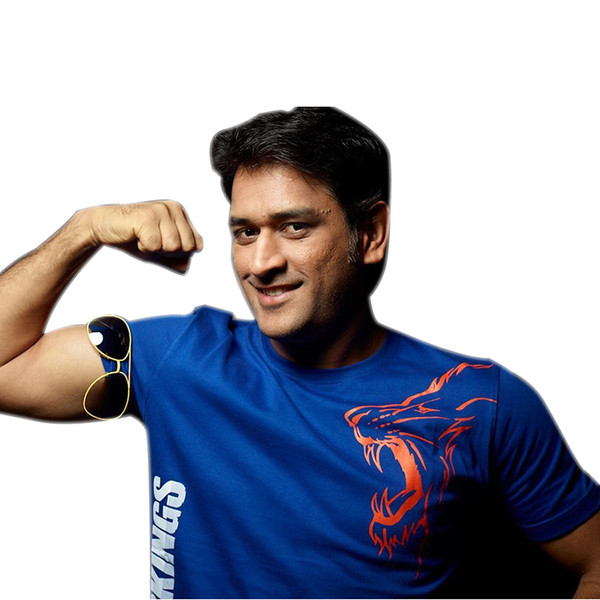 Chennai Super Kings Dhoni Blue Outline T-shirt