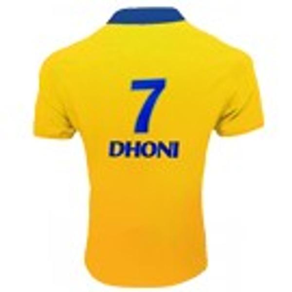 Chennai Super Kings Bleed Yellow Jersey Dhoni #7 - Back