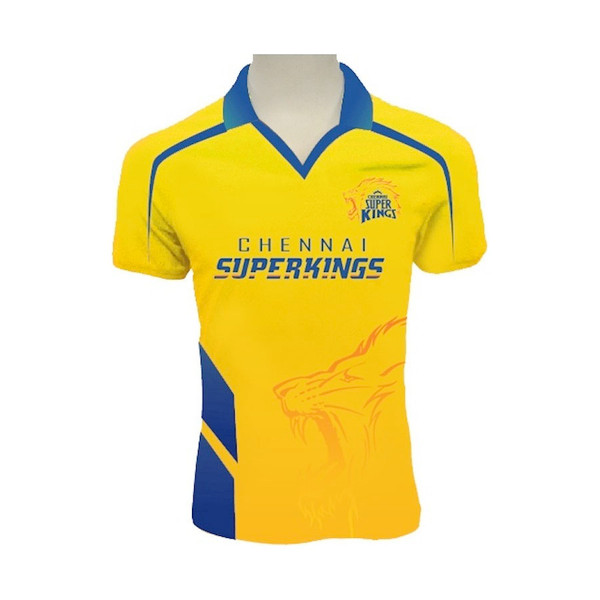 Chennai Super Kings Bleed Yellow Jersey Dhoni #7 - Front