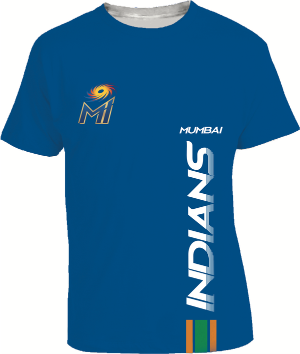 MUMBAI INDIANS OUTLINE BLUE T-SHIRT