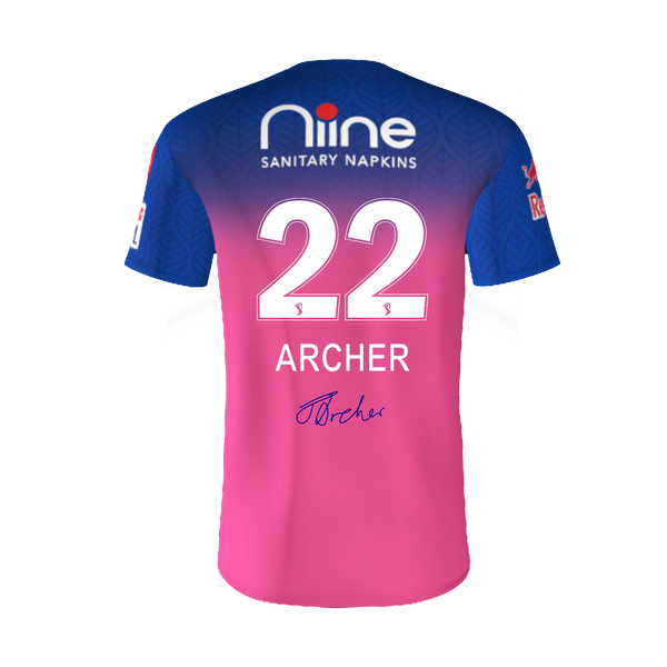 RAJASTHAN ROYALS (ARCHER) AUTOGRAPHED PLAYER JERSEY 2020