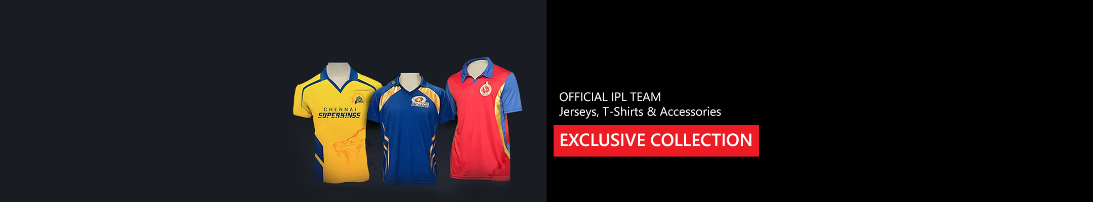 Official IPL Team Jerseys, T-Shirts & Accessories