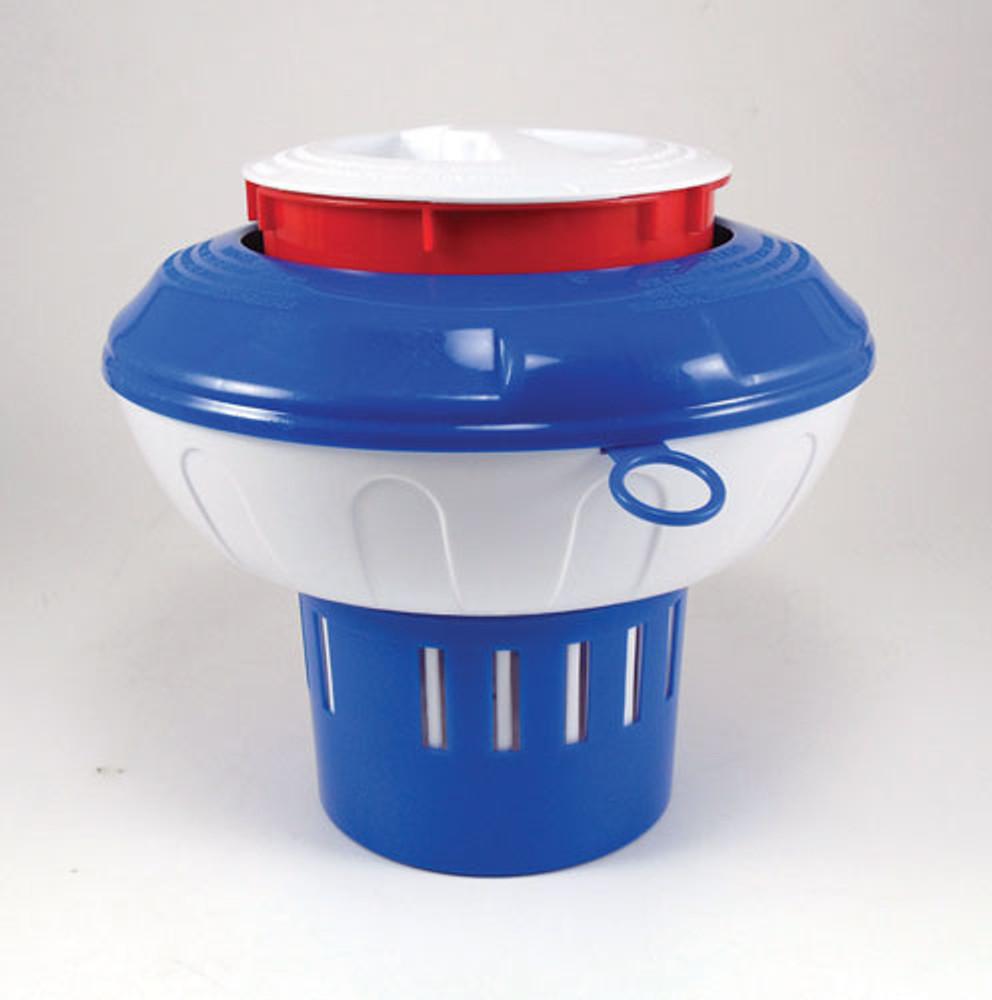 "Floating Blue/White 3"" Tab Chlorinator  -  CL296ABWS"