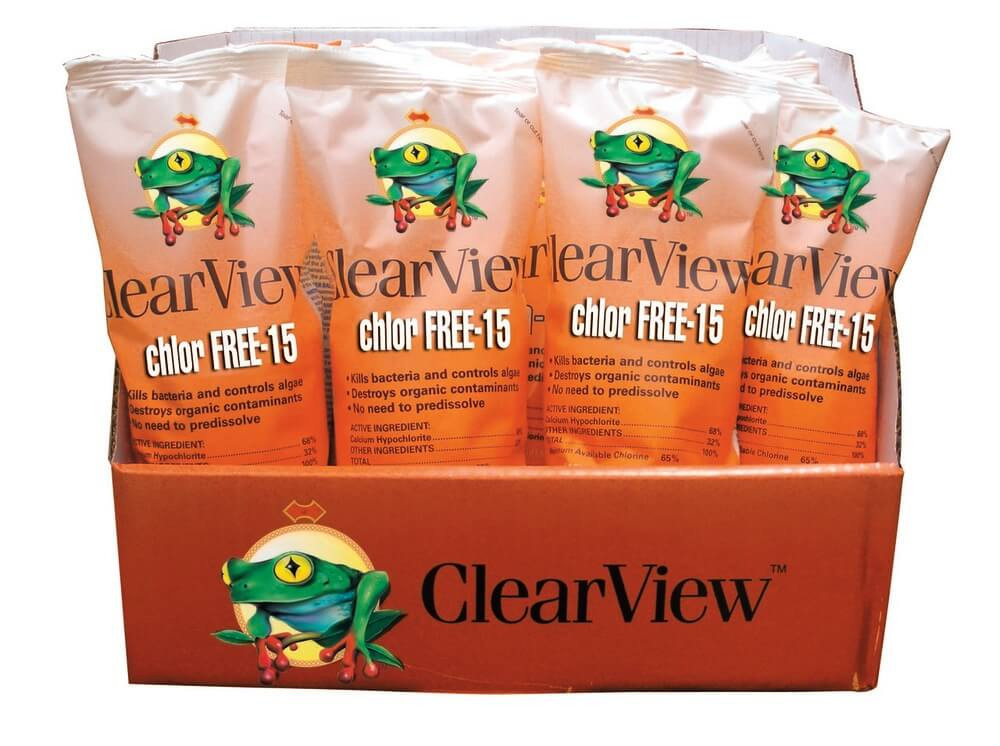 ClearView Chlor Free Shock and Swim 15 - 1 lb  -  CVCF001-24