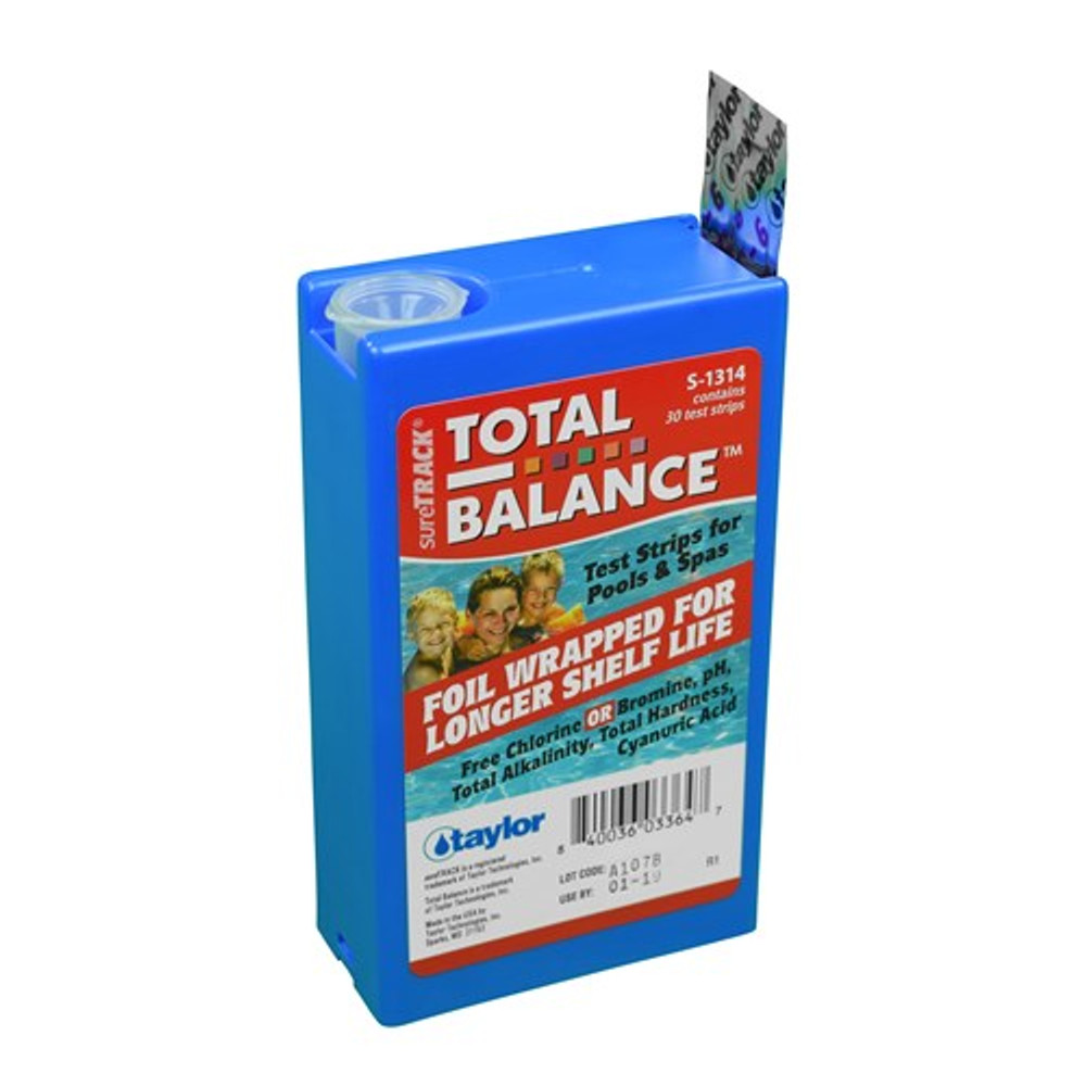 Taylor Technologies sureTRACK Total Balance 6-way Test Strips  -  S-1314