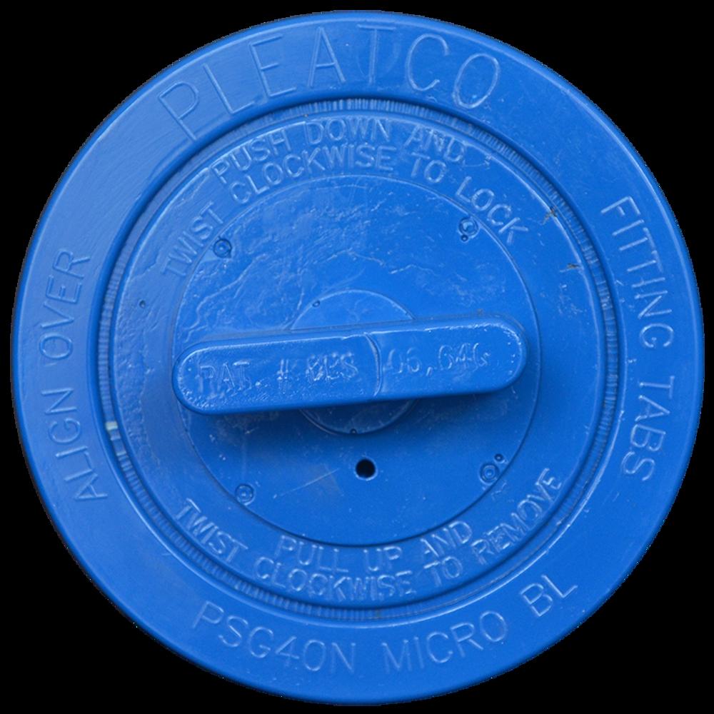 Pleatco PSG40N-P2-M - Replacement Cartridge - Saratoga Spas - 40 sq ft - Microban, top