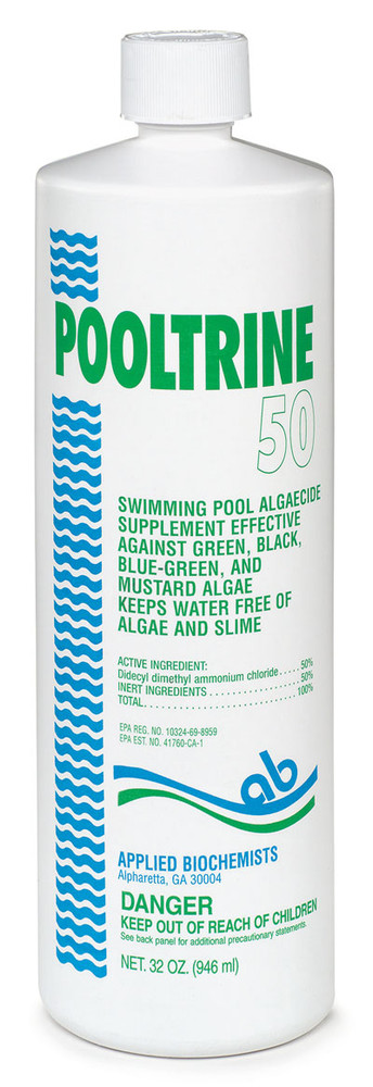 Applied Biochemists Pooltrine 50 algaecide - 1 qt  -  407253