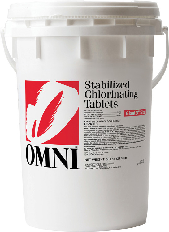 Omni Large Chlorinating Tabs - 50 lb  -  21785