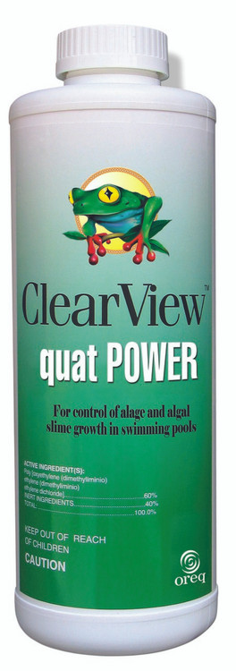 ClearView Quat POWER Non-Metallic Algaecide - 1 Qt  -  CVLQPQT12
