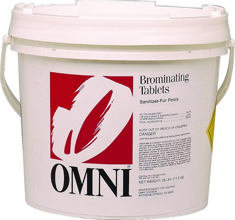 Omni Brominating Tablets - 25 lb  -  22027