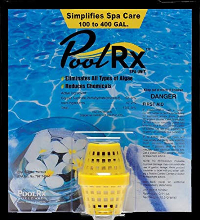PoolRX Mineral Unit - Yellow Unit for 100- 400 gallon Spas - PRX101057