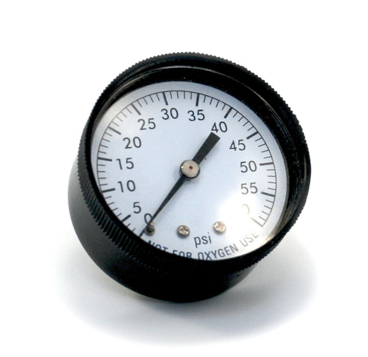 "Pressure Gauge 1/4"" 60 PSI Back Mount Clam Shell  -  AC295C"
