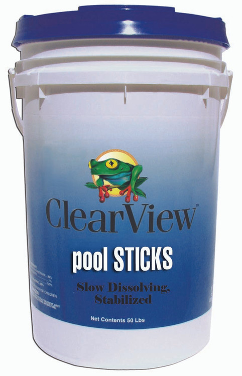 ClearView Pool STICKS - 50 lb  -  CVST050