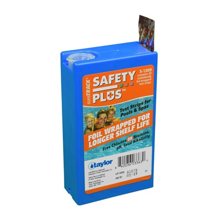 Taylor Technologies sureTRACK Safety Plus Test Strips - S-1309