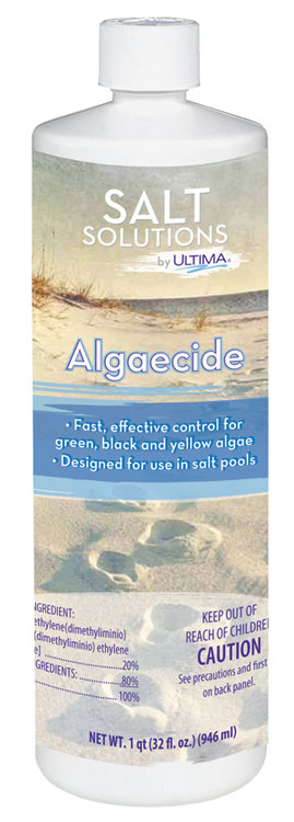 Salt Solutions by Ultima Algaecide - 1 qt