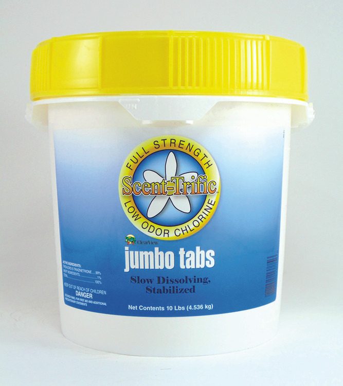 ClearView Scent-Trific Jumbo Tabs - 10 lb   CVTLST010