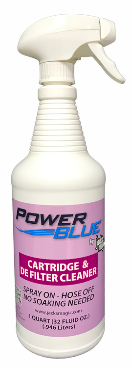 Jack's Magic Power Blue Instant Spray Cartridge & DE Filter Cleaner - 1 qt