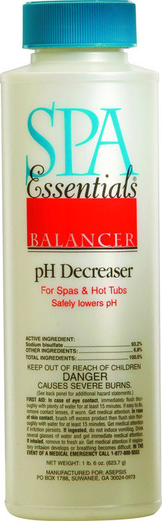 Spa Essentials pH Decreaser - 22 oz - 32519