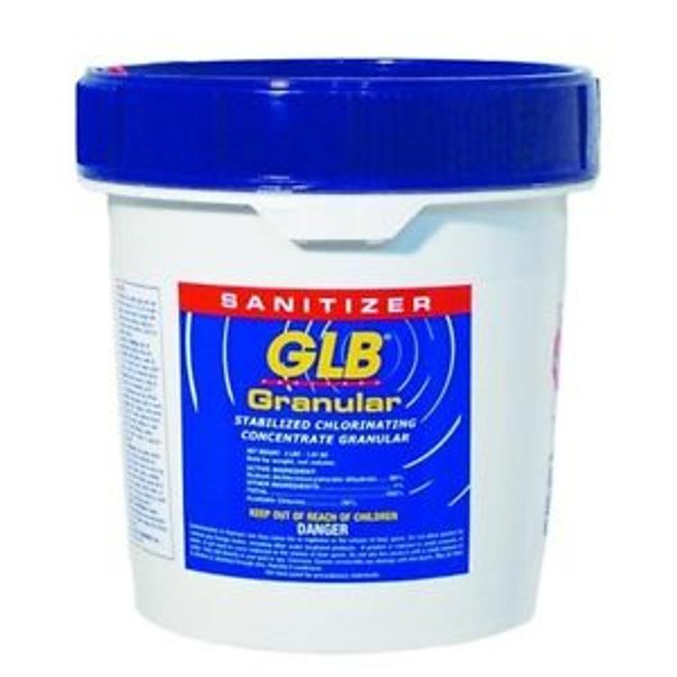 GLB Granular Dichlor stabilized chlorine -  8 lb