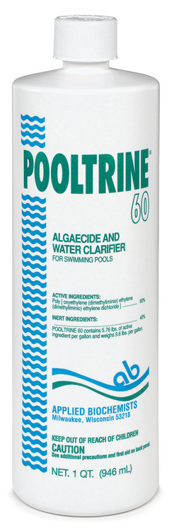 Applied Biochemists Pooltrine 60 algaecide - 1 qt  -  407303