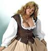 Lady's Bodice Twill-Brown